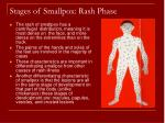 stages of smallpox rash phase54
