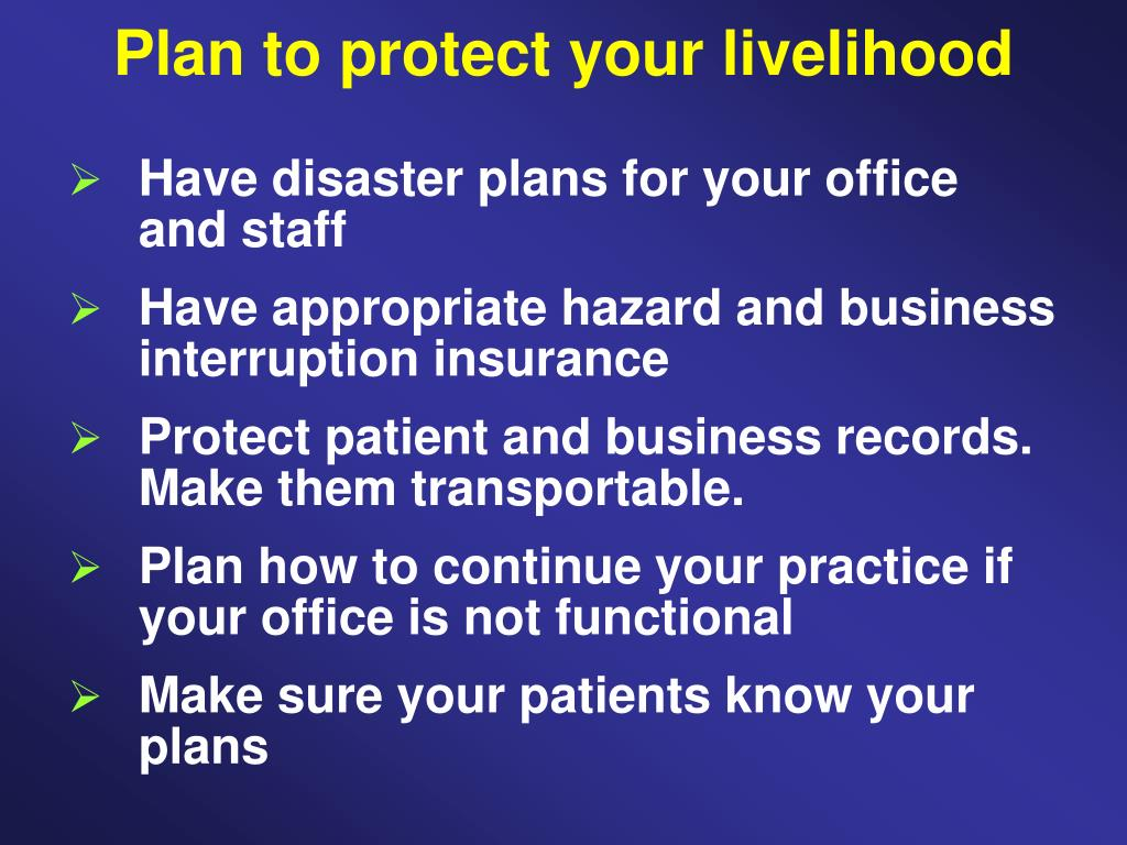 Plan to protect your livelihood