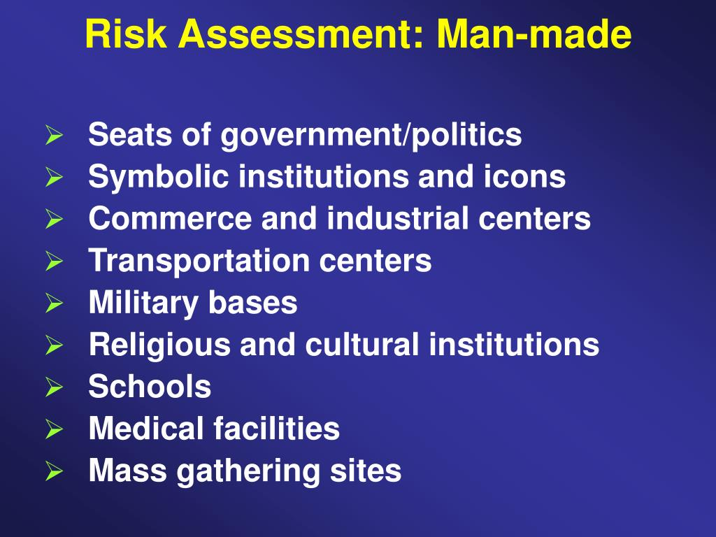 Risk Assessment: Man-made