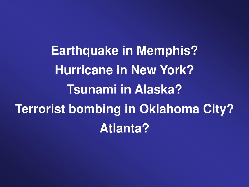 Earthquake in Memphis?