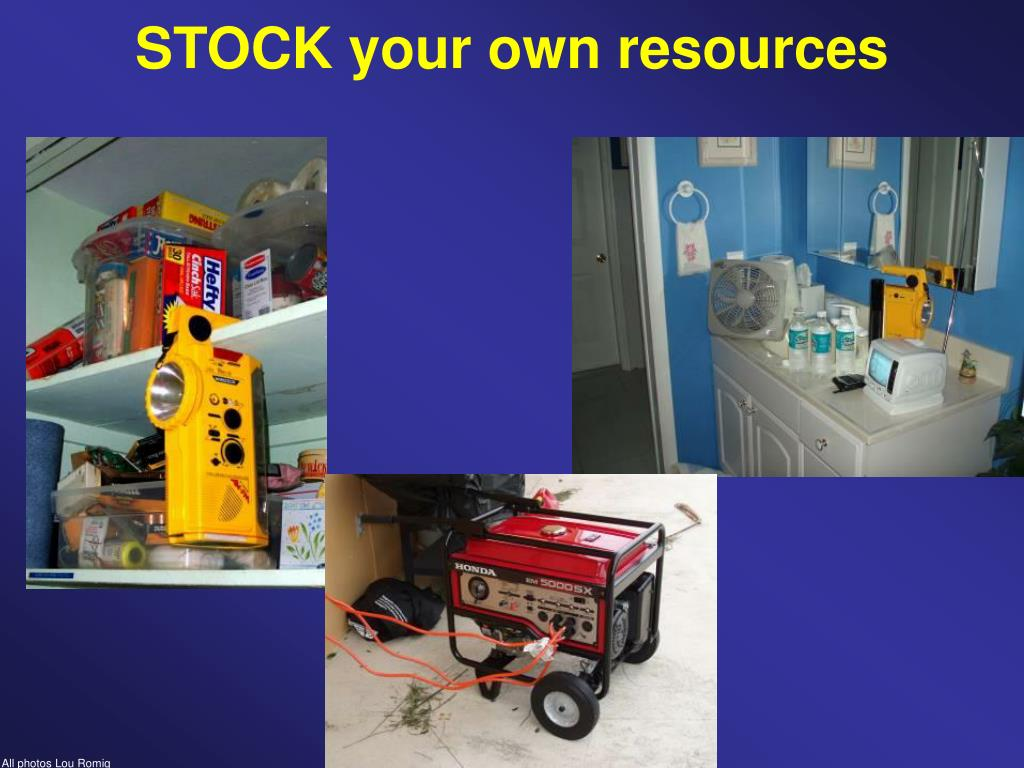 STOCK your own resources