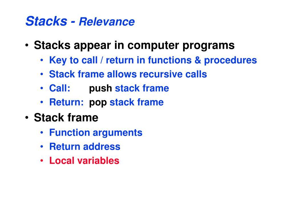 Stacks -