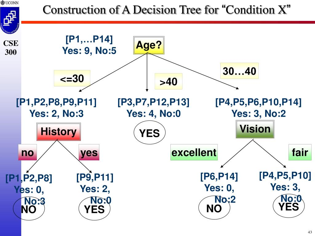 Construction of A Decision Tree for
