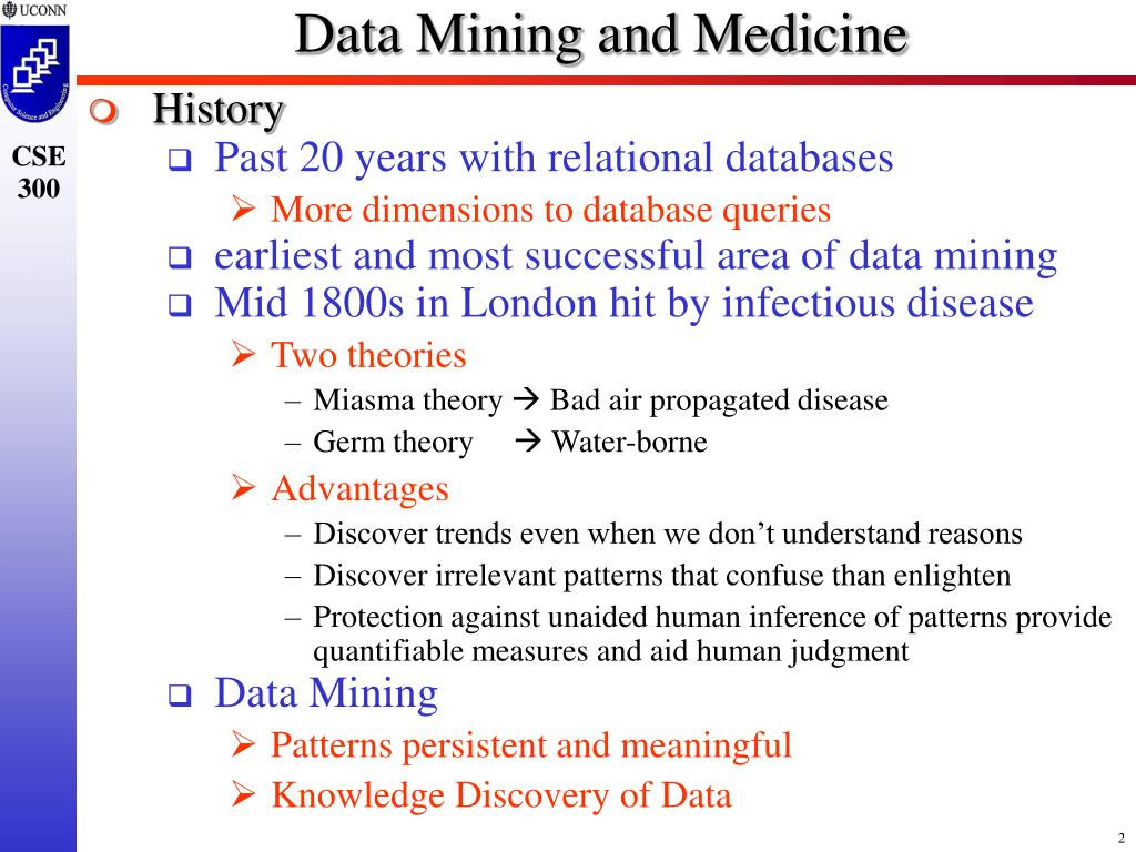 Data Mining and Medicine
