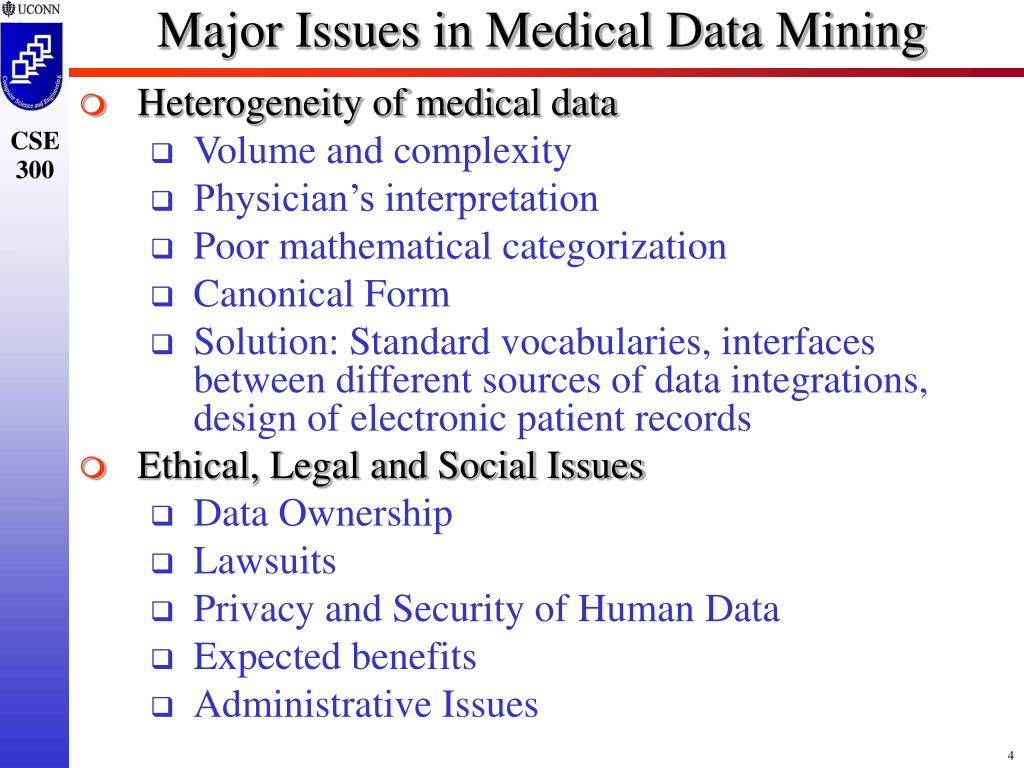 Major Issues in Medical Data Mining