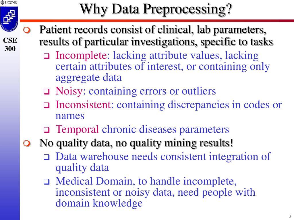 Why Data Preprocessing?