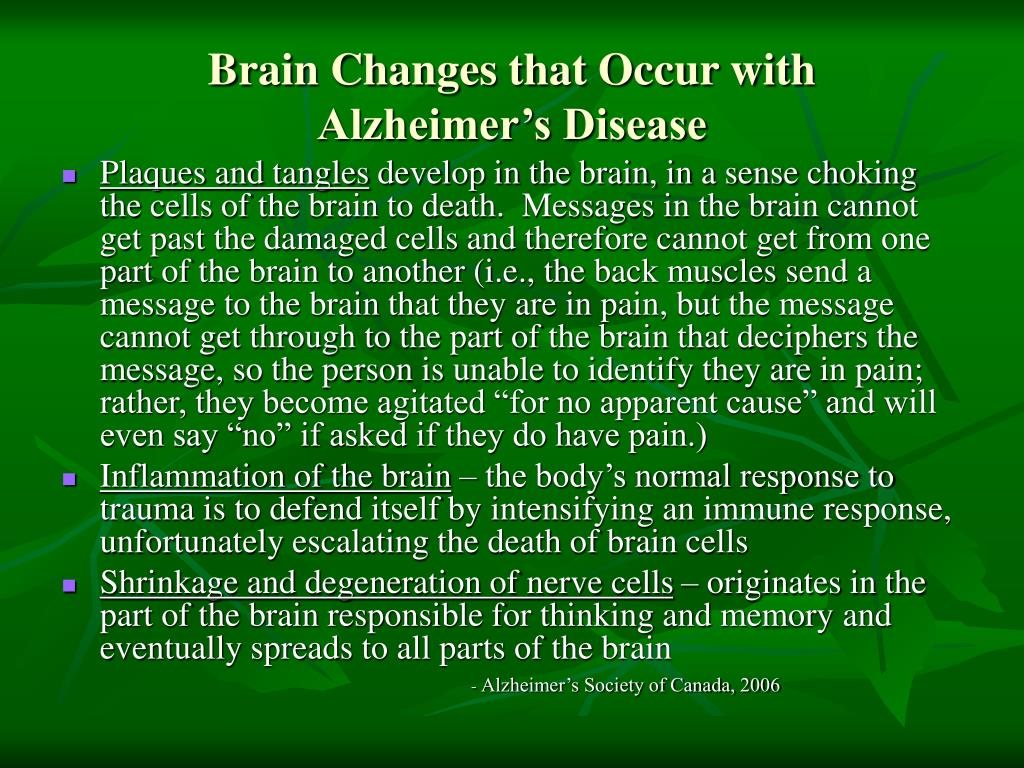 Brain Changes that Occur with