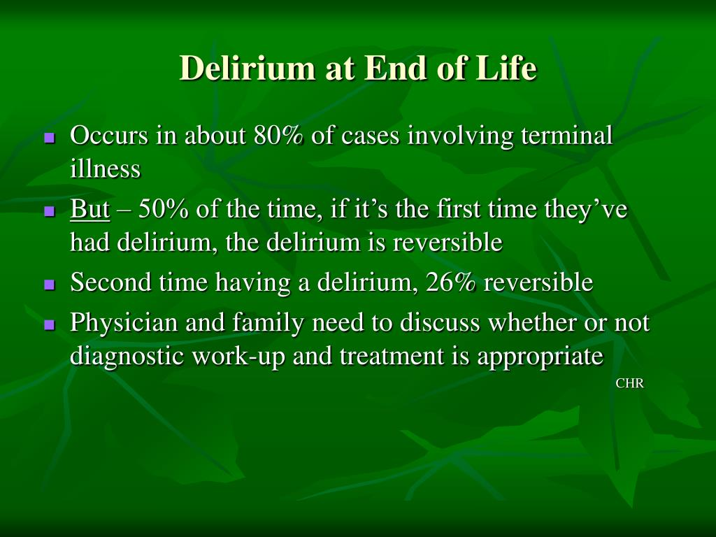 Delirium at End of Life