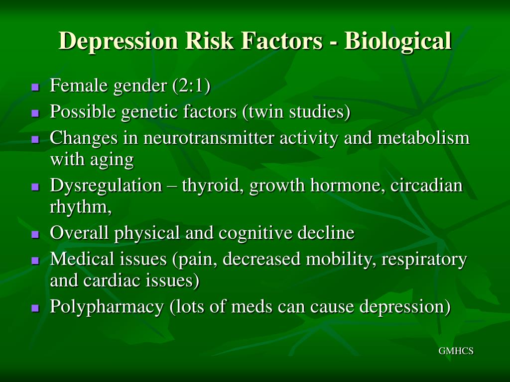Depression Risk Factors - Biological