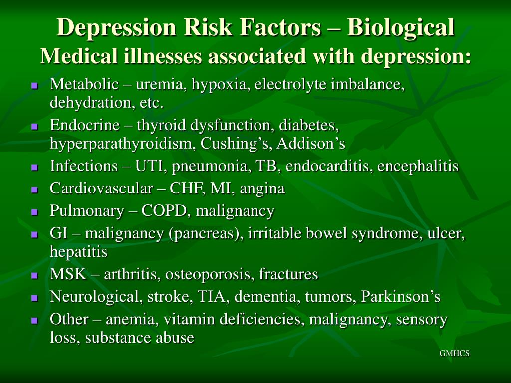 Depression Risk Factors – Biological