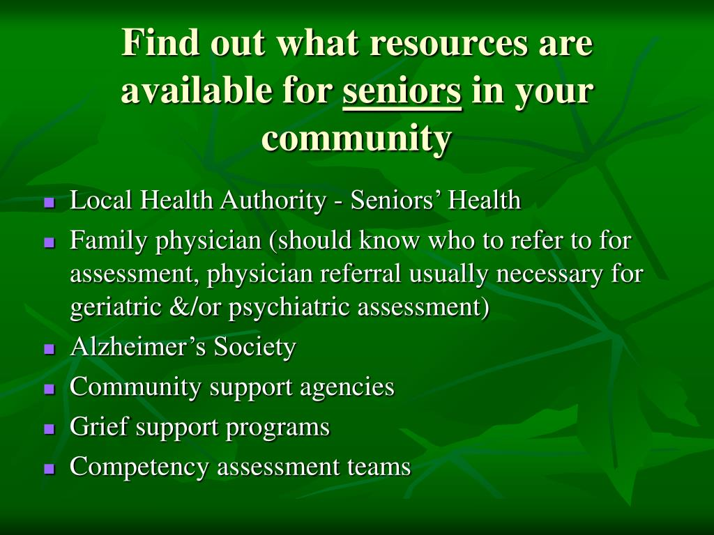 Find out what resources are available for