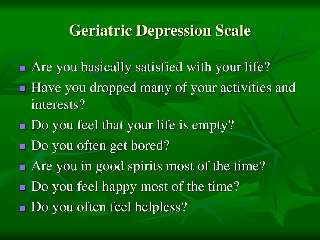 Geriatric Depression Scale