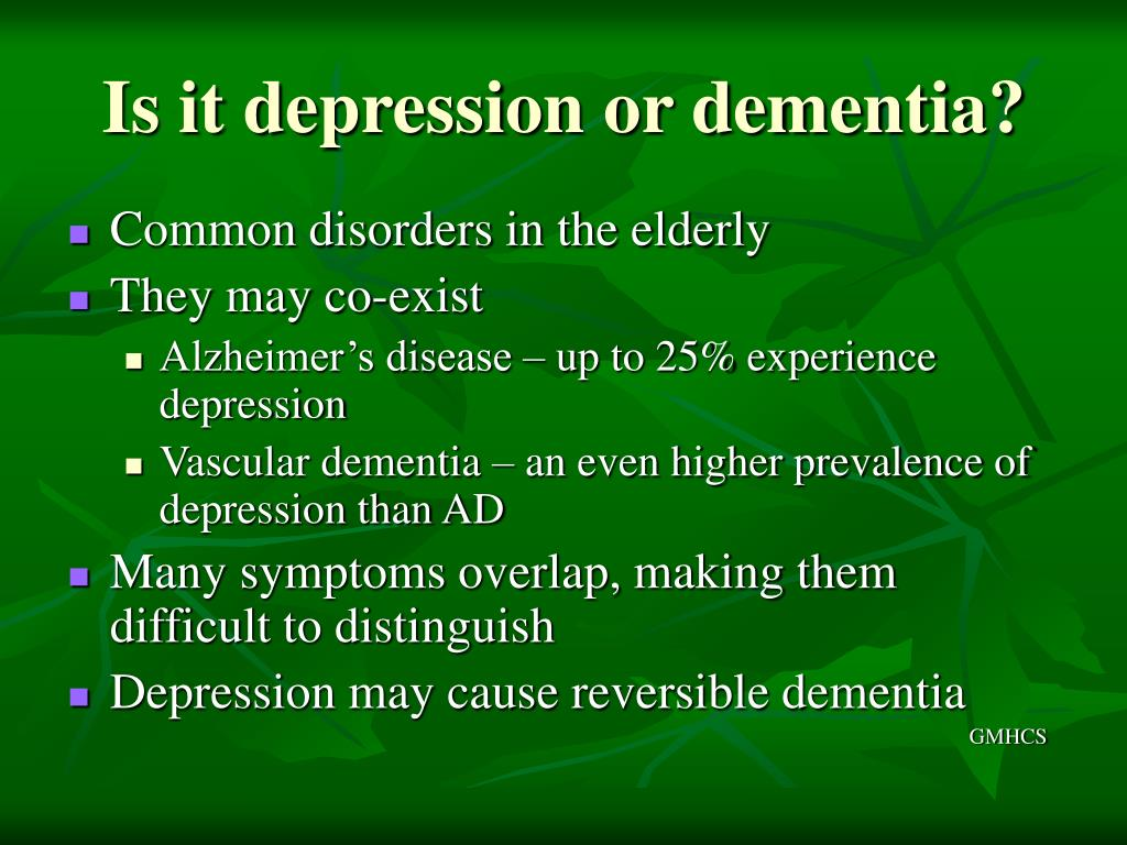 Is it depression or dementia?