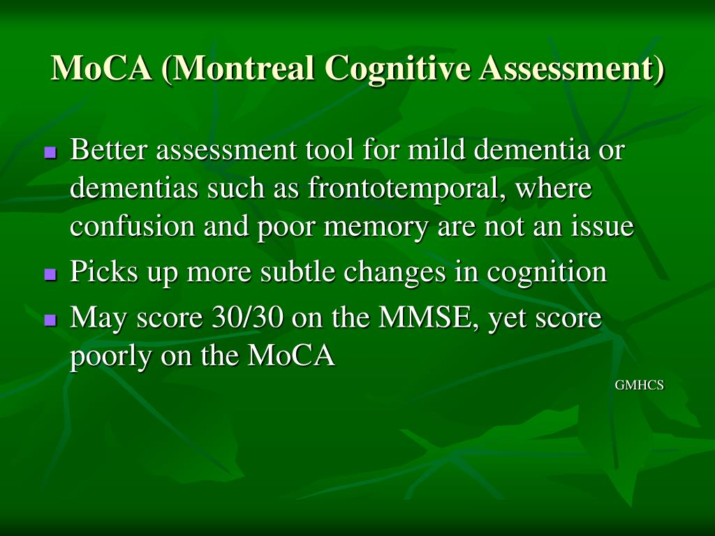MoCA (Montreal Cognitive Assessment)