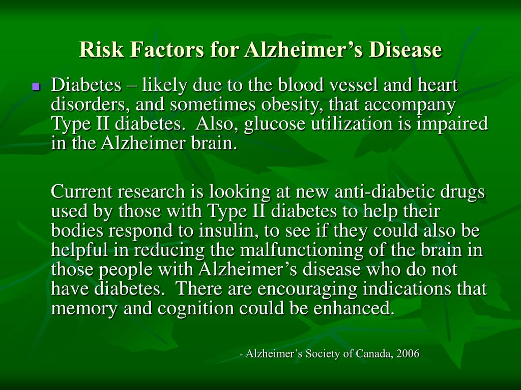 Risk Factors for Alzheimer's Disease