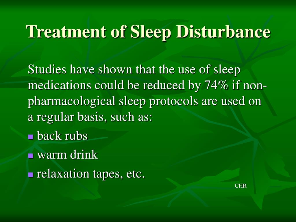 Treatment of Sleep Disturbance