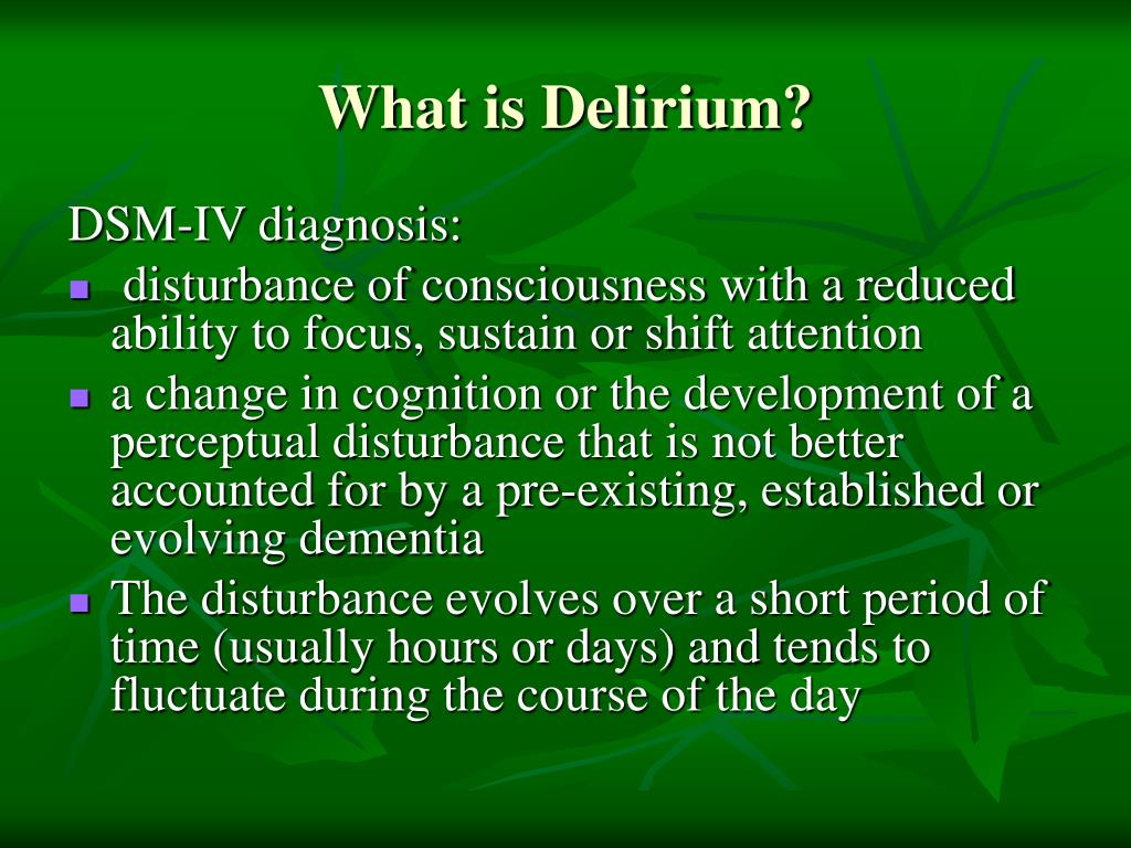What is Delirium?
