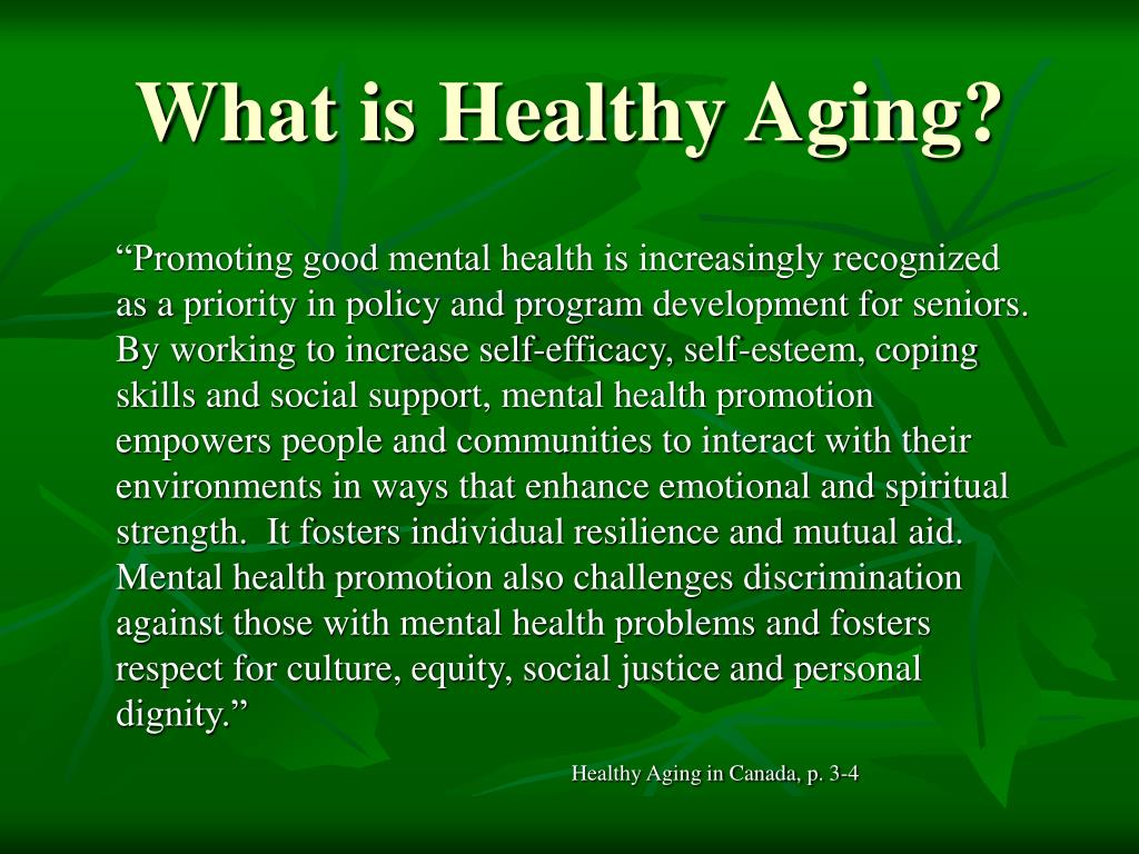 What is Healthy Aging?