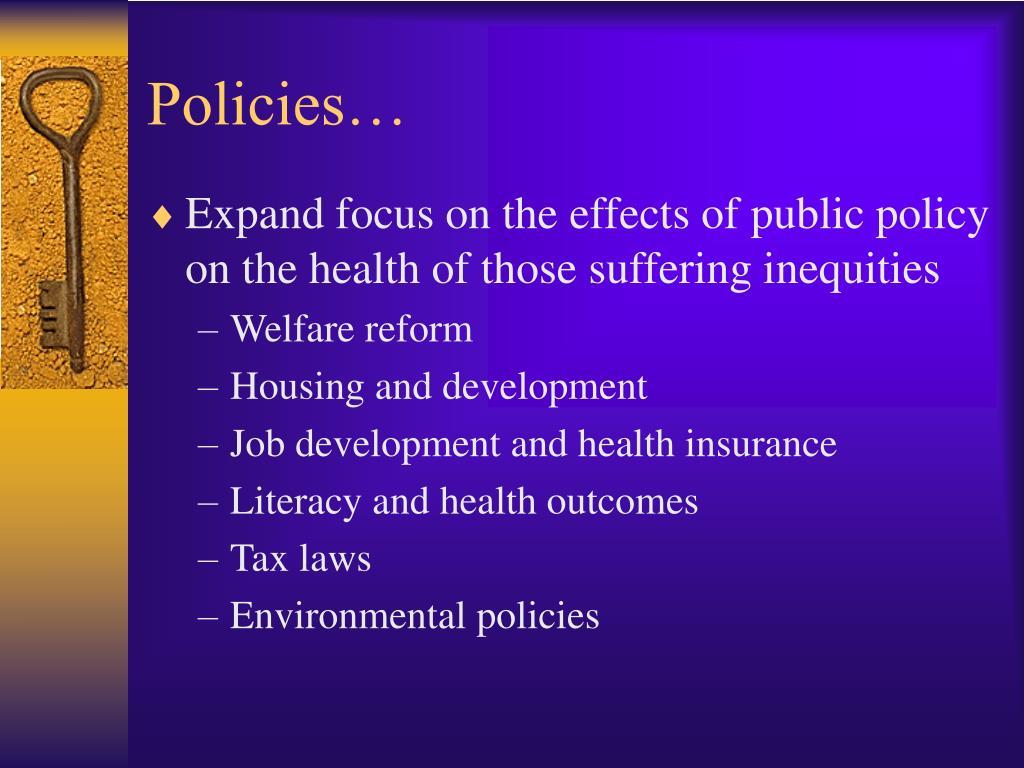 Policies…