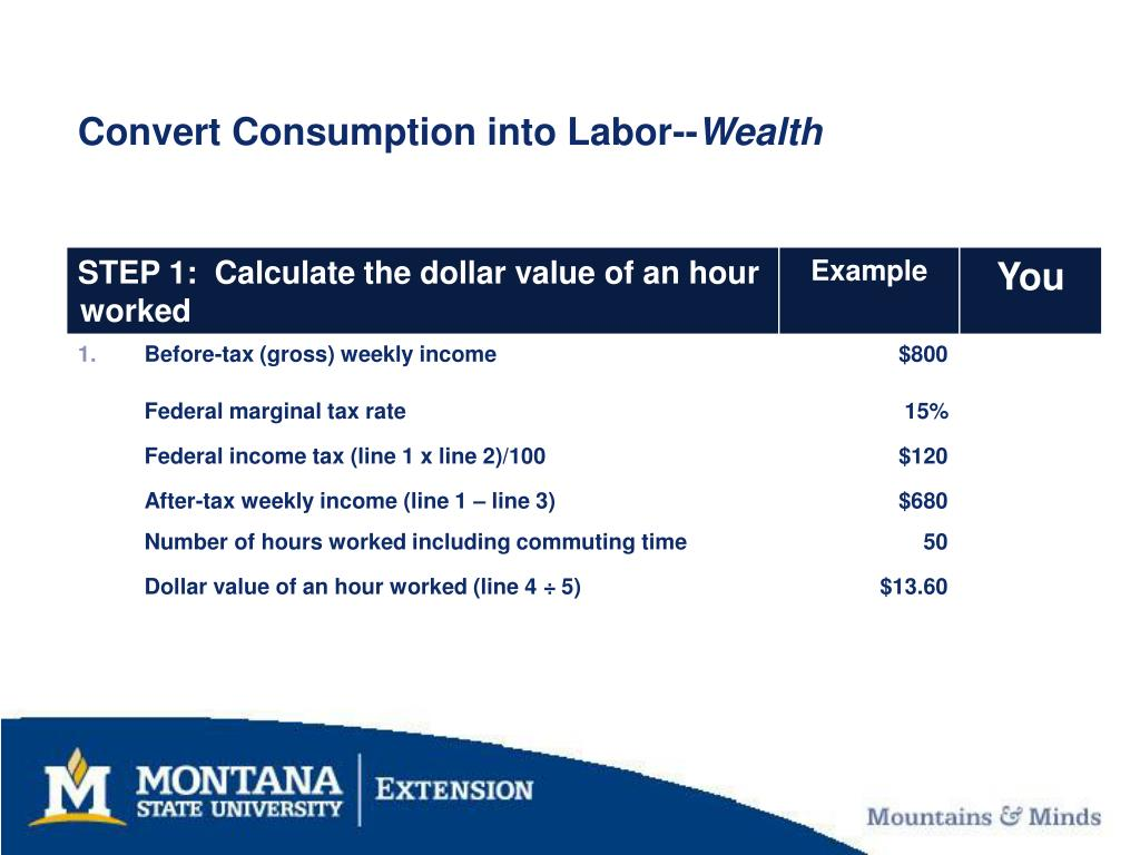 Convert Consumption into Labor--