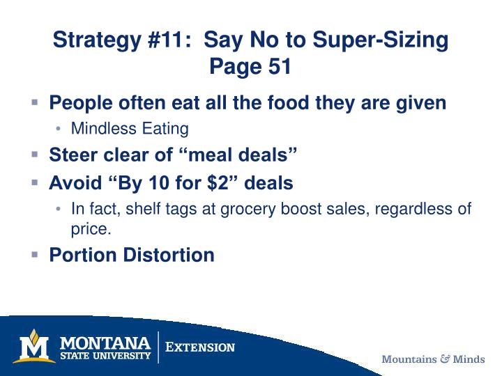 Strategy 11 say no to super sizing page 51