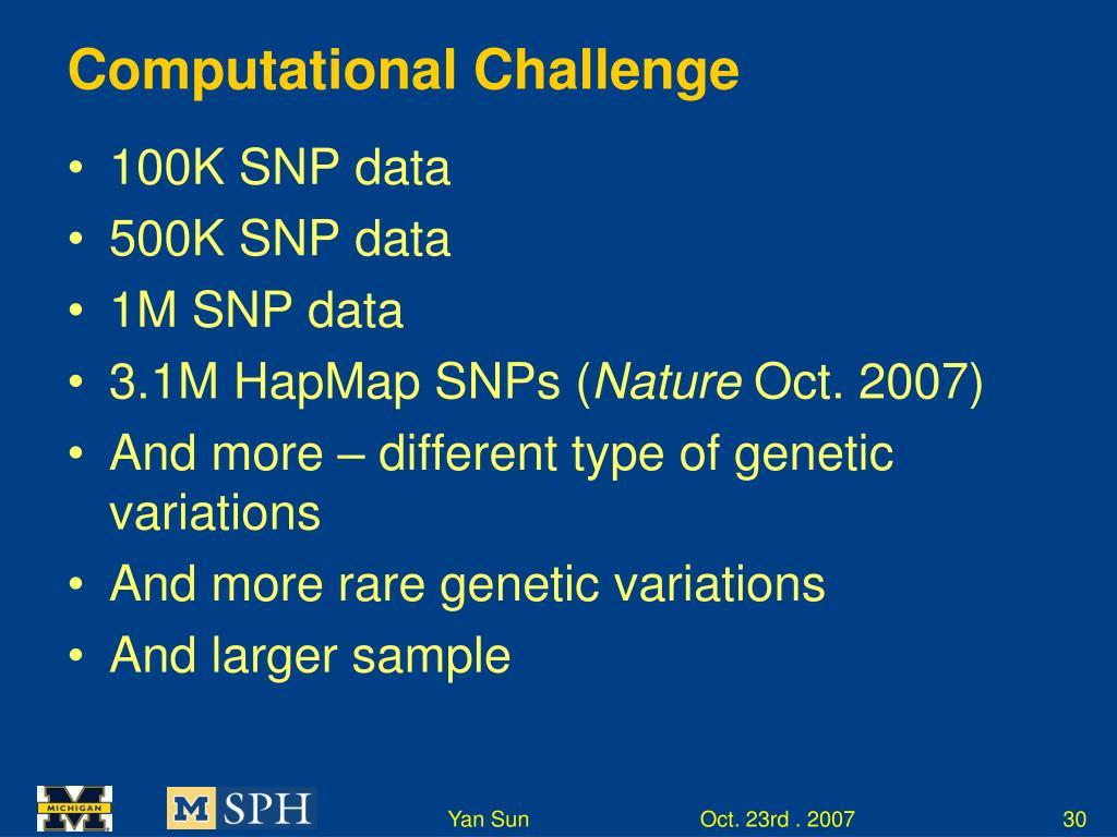 Computational Challenge