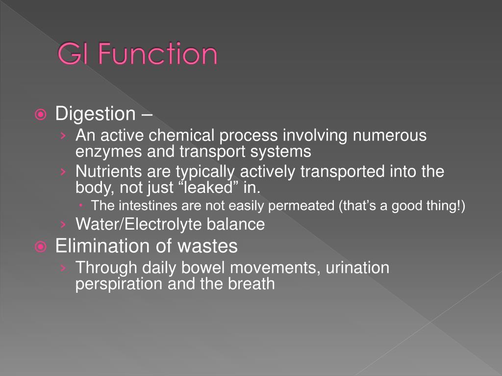 GI Function