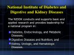 national institute of diabetes and digestive and kidney diseases