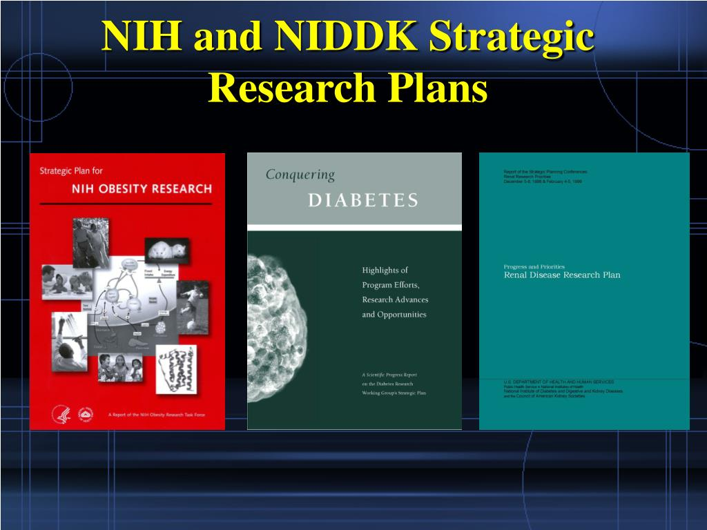 NIH and NIDDK Strategic Research Plans