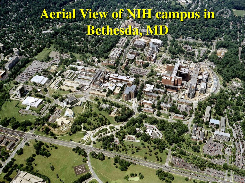 Aerial View of NIH campus in Bethesda, MD