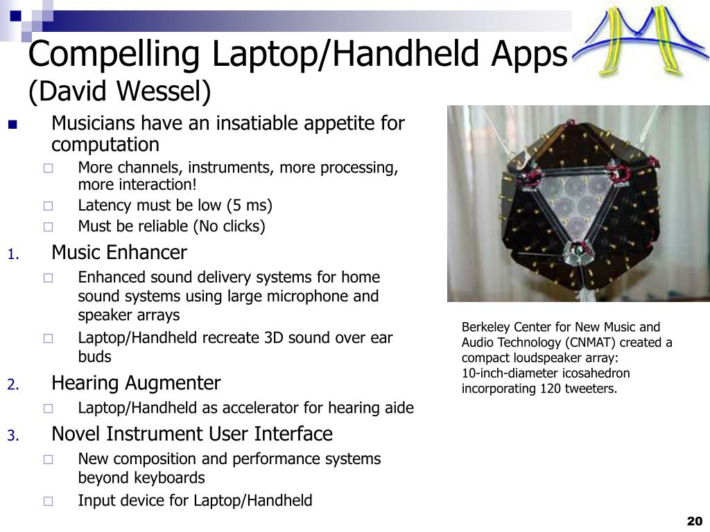 Compelling Laptop/Handheld Apps