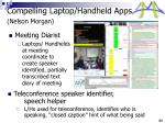 compelling laptop handheld apps nelson morgan