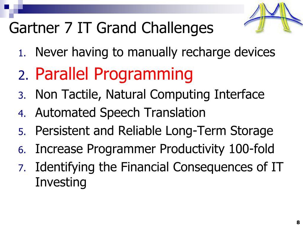 Gartner 7 IT Grand Challenges