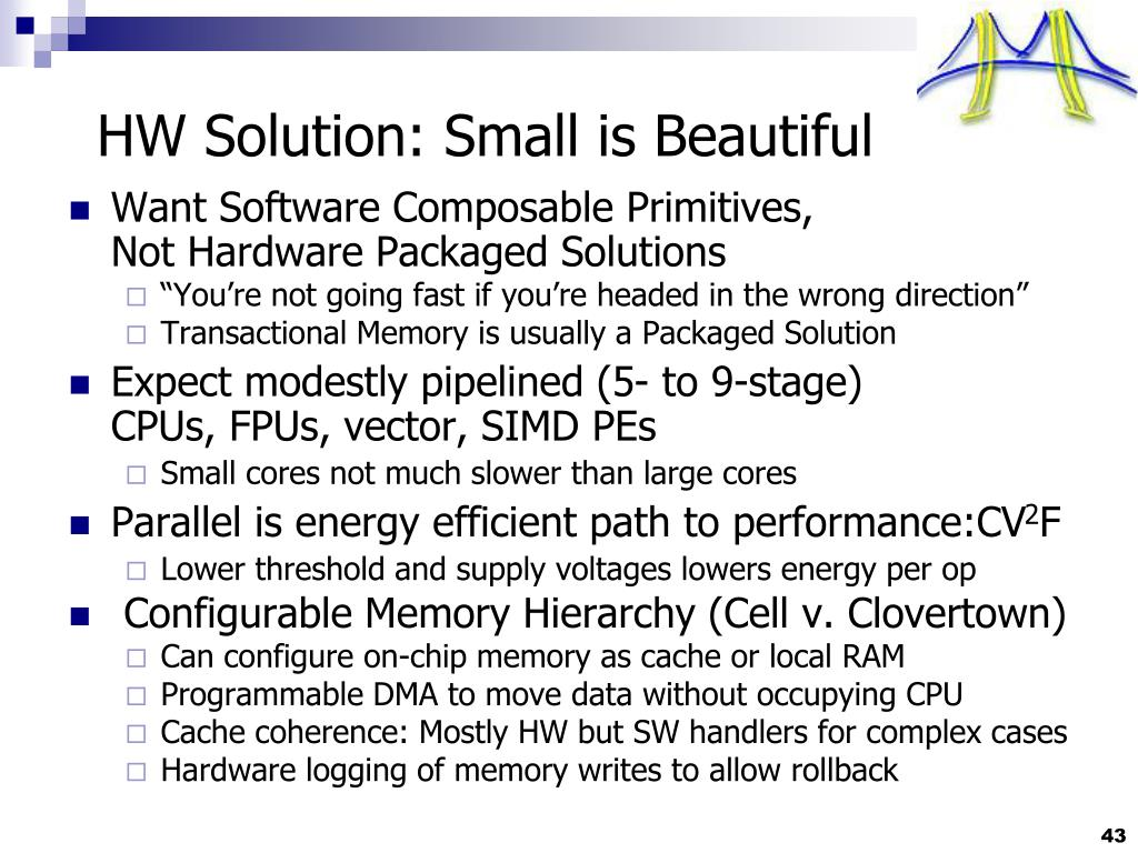 HW Solution: Small is Beautiful