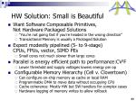 hw solution small is beautiful