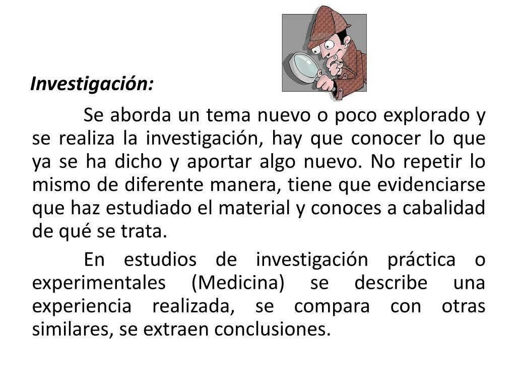 Investigación: