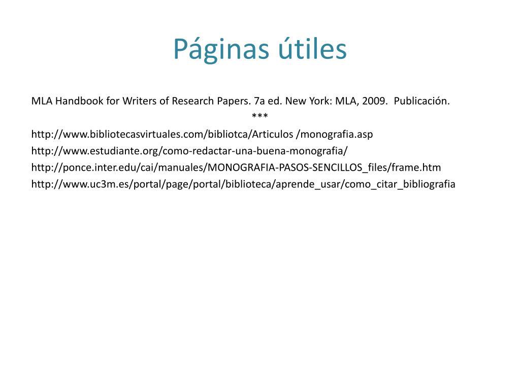 Páginas útiles