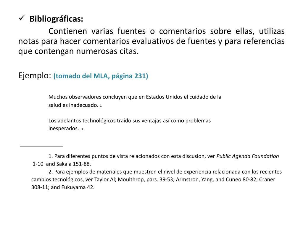 Bibliográficas: