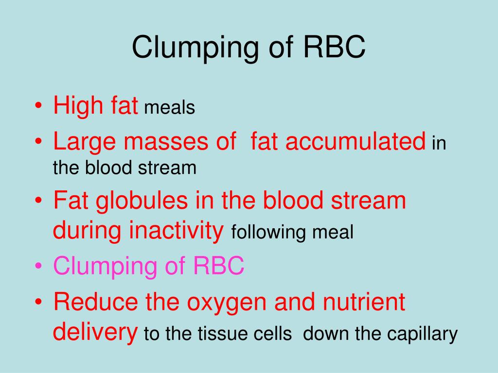 Clumping of RBC