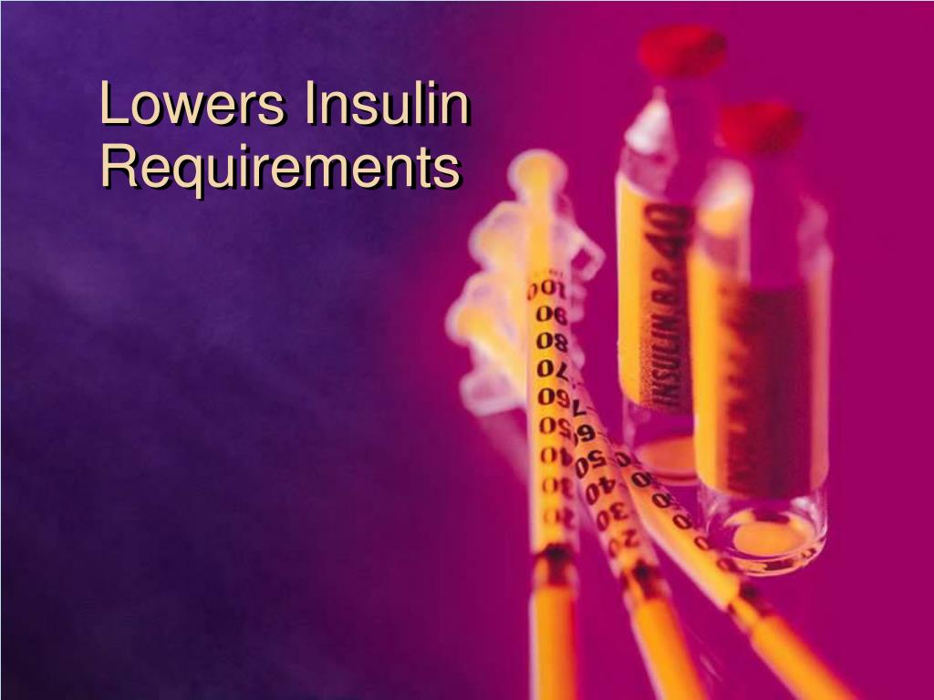 Lowers Insulin Requirements