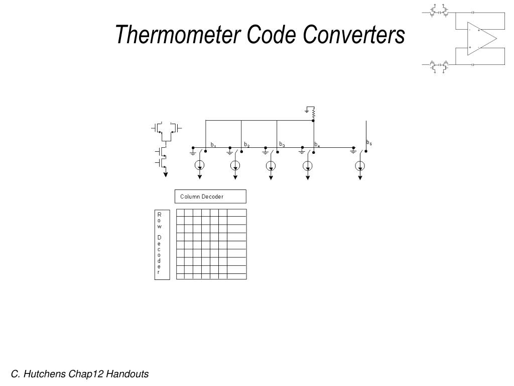 Thermometer Code Converters