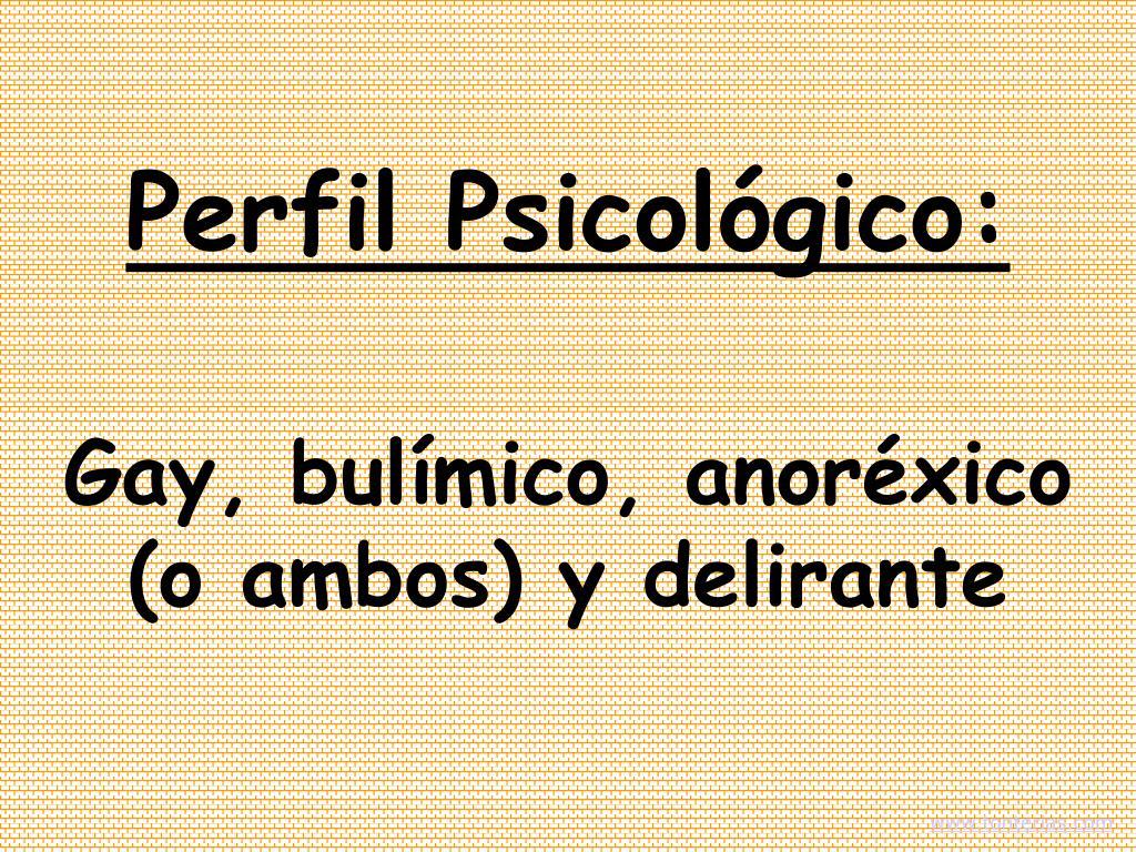 Perfil Psicológico: