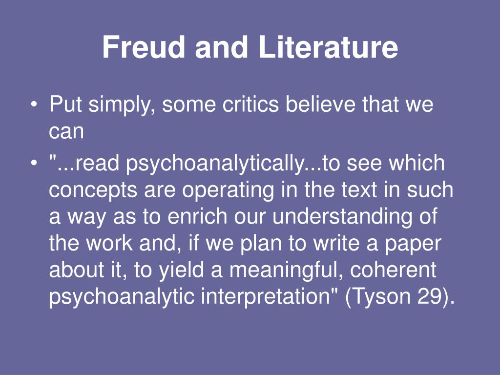 freudian criticism reading characters trauma For the growing number of critics concerned to trace the links among historical  forces  character of traumatic memory—than to transmit directly to the reader  the.