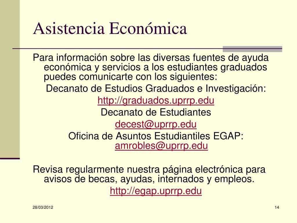 Asistencia Económica