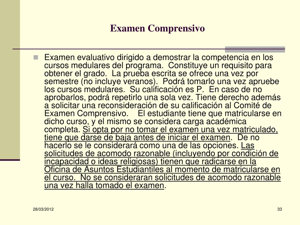 Examen Comprensivo