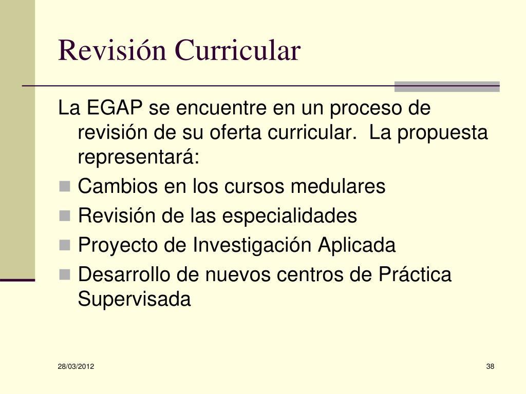 Revisión Curricular