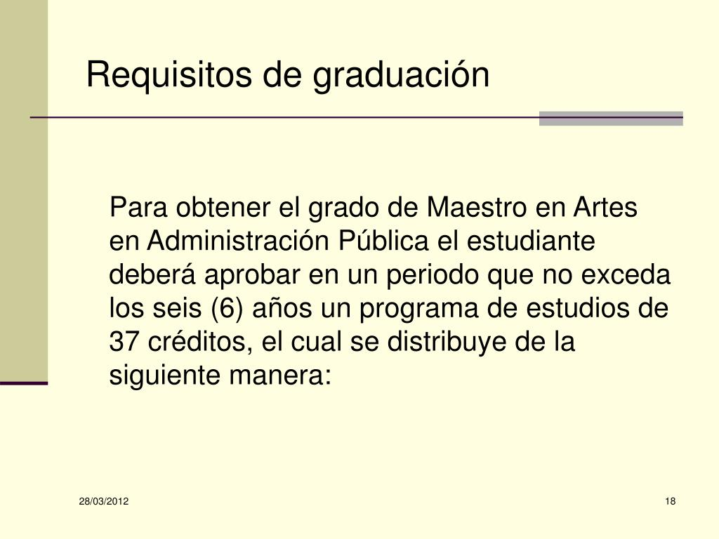 Requisitos de graduación
