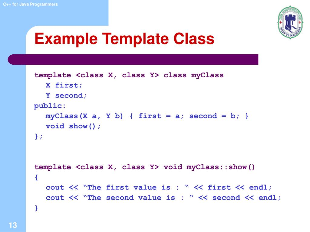 Example Template Class