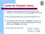 inside the template library