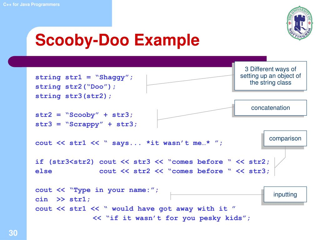 Scooby-Doo Example